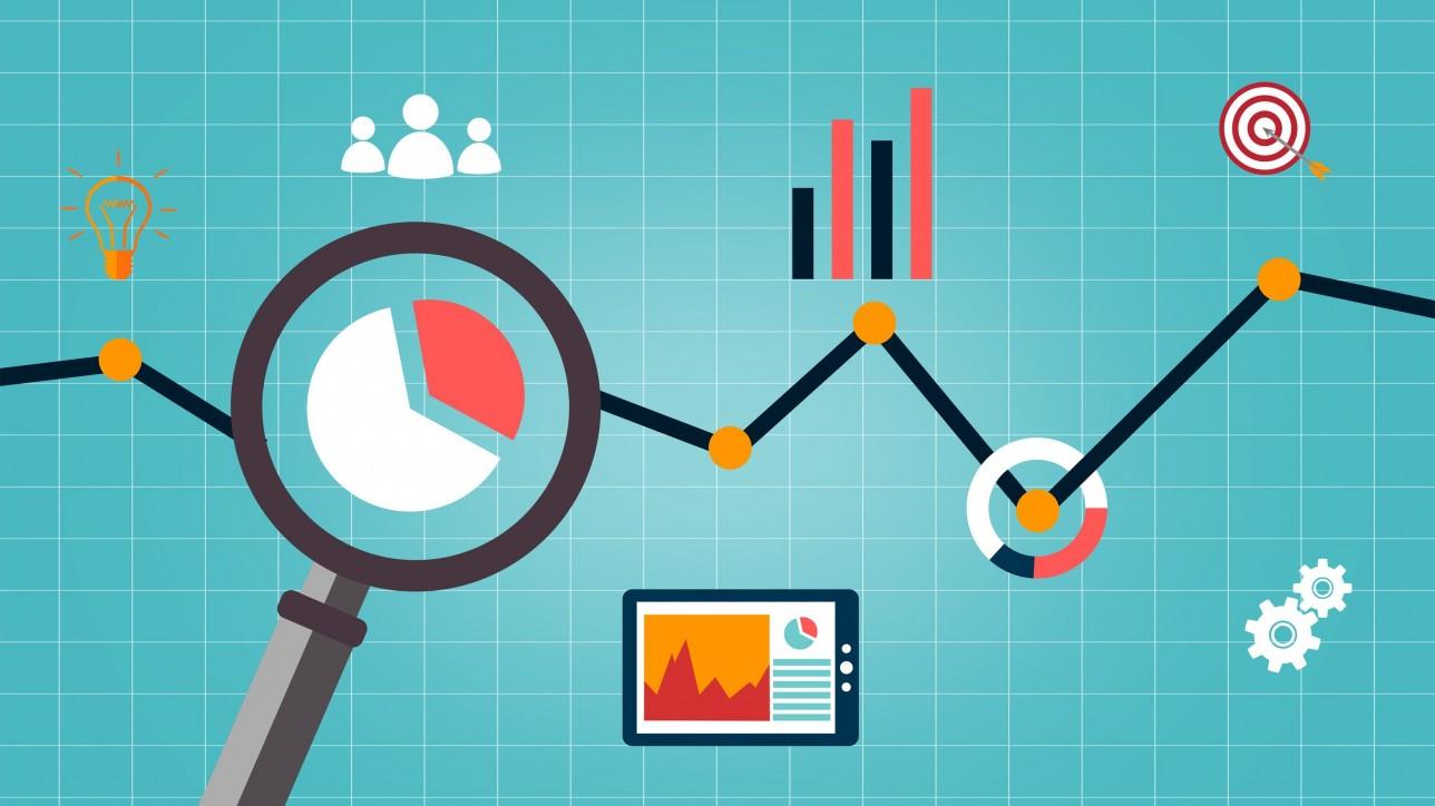 Web analytics concept - Multicolor version