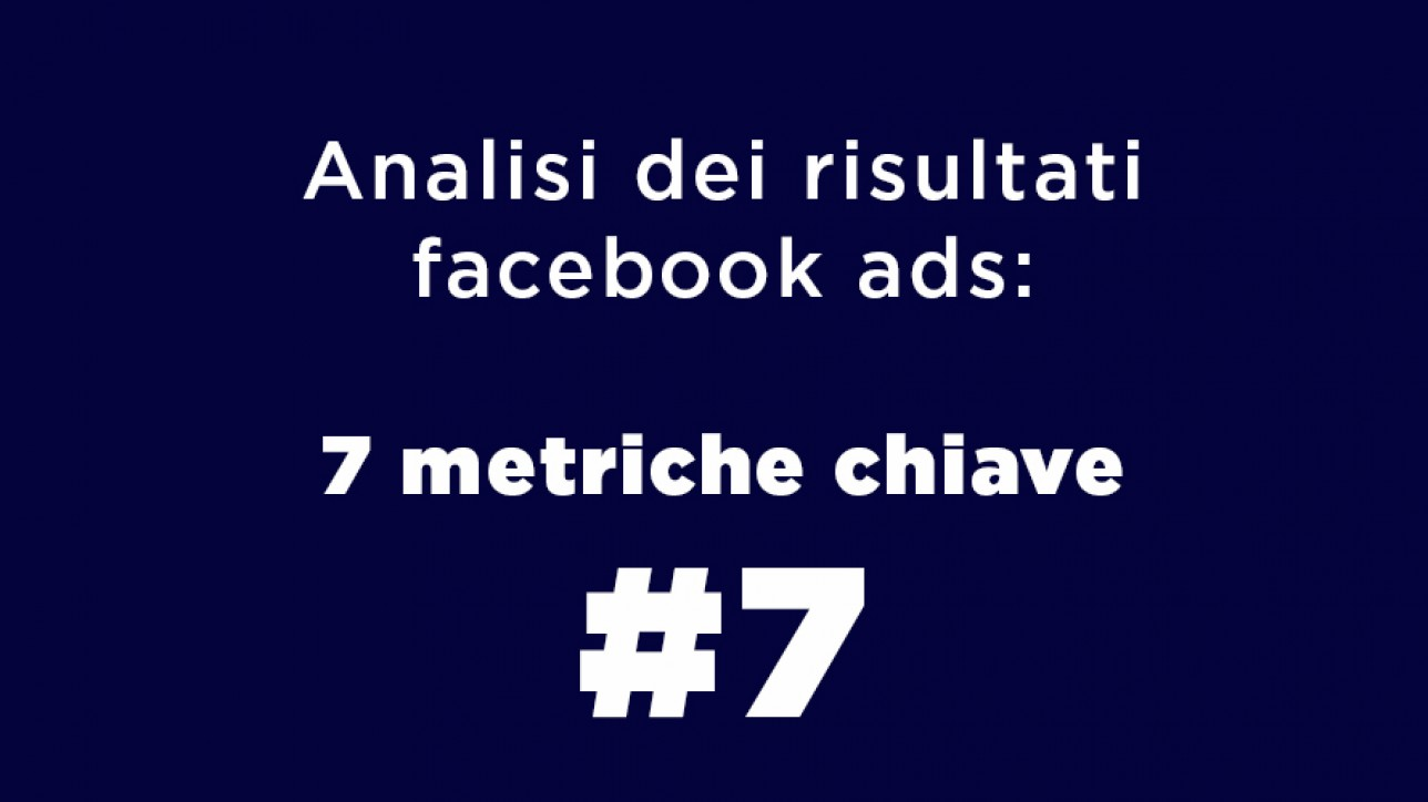 Analisi dei risultati facebook ads