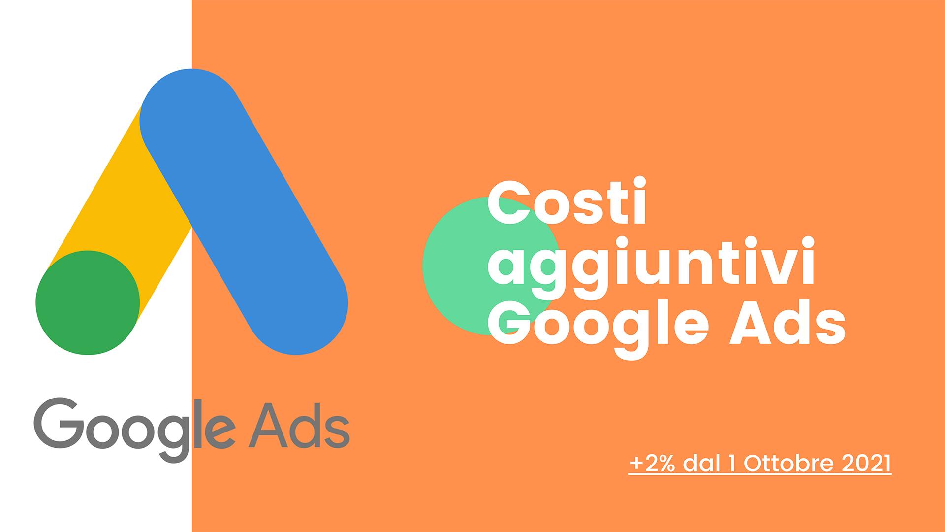 Costi aggiuntivi google ads